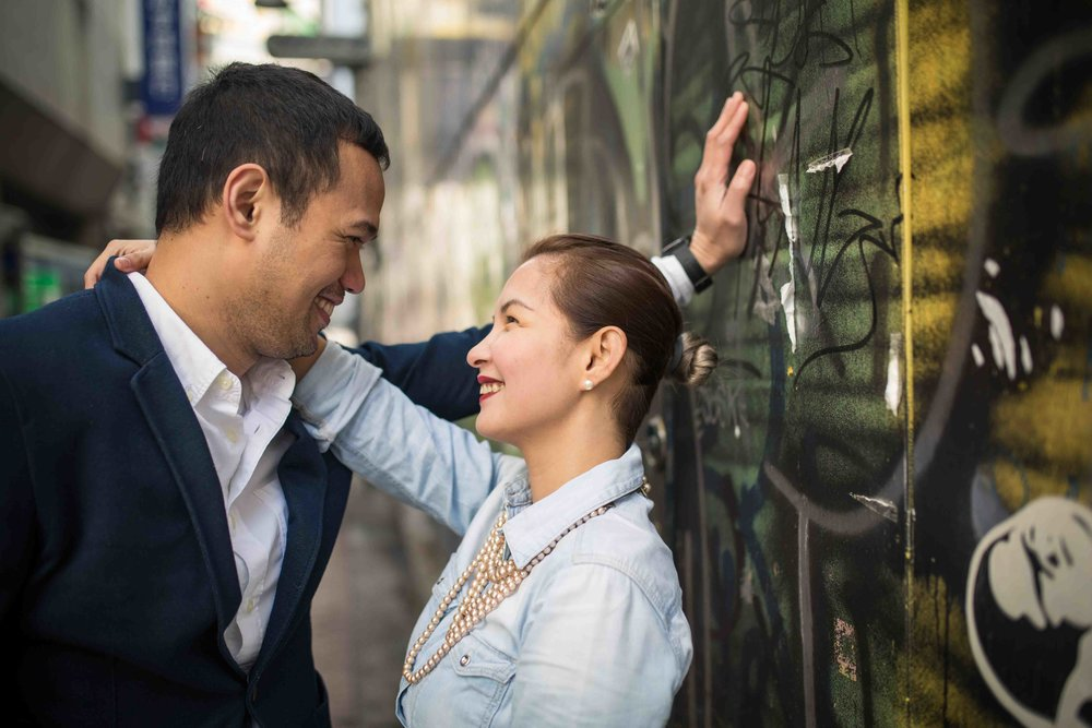 Backstreet photographer (Tokyo engagement photo shoot)