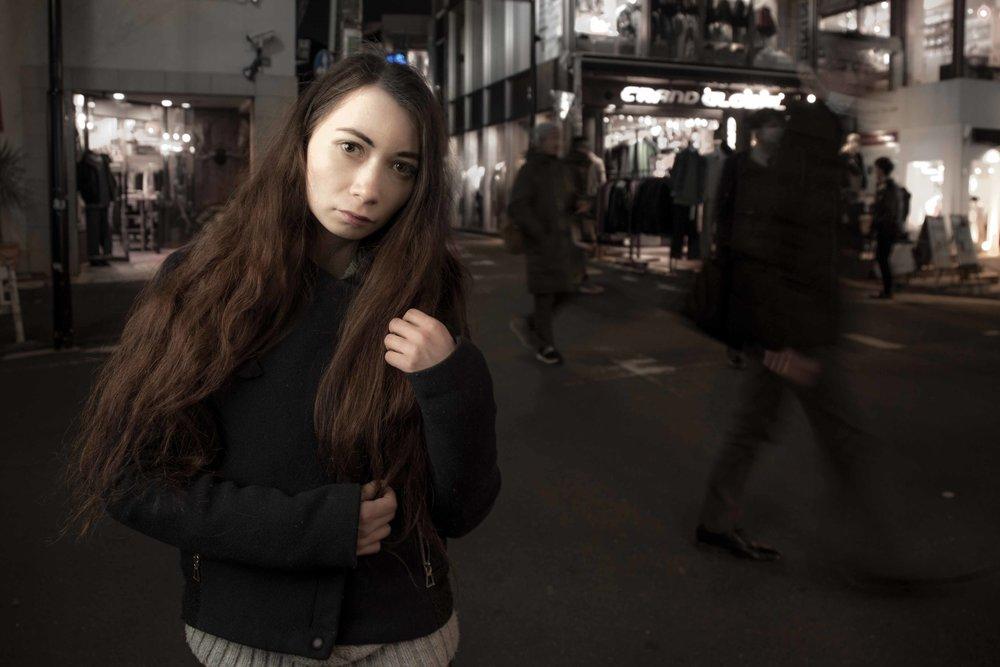 Harajuku, Tokyo backstreet photographer (slow shutter)