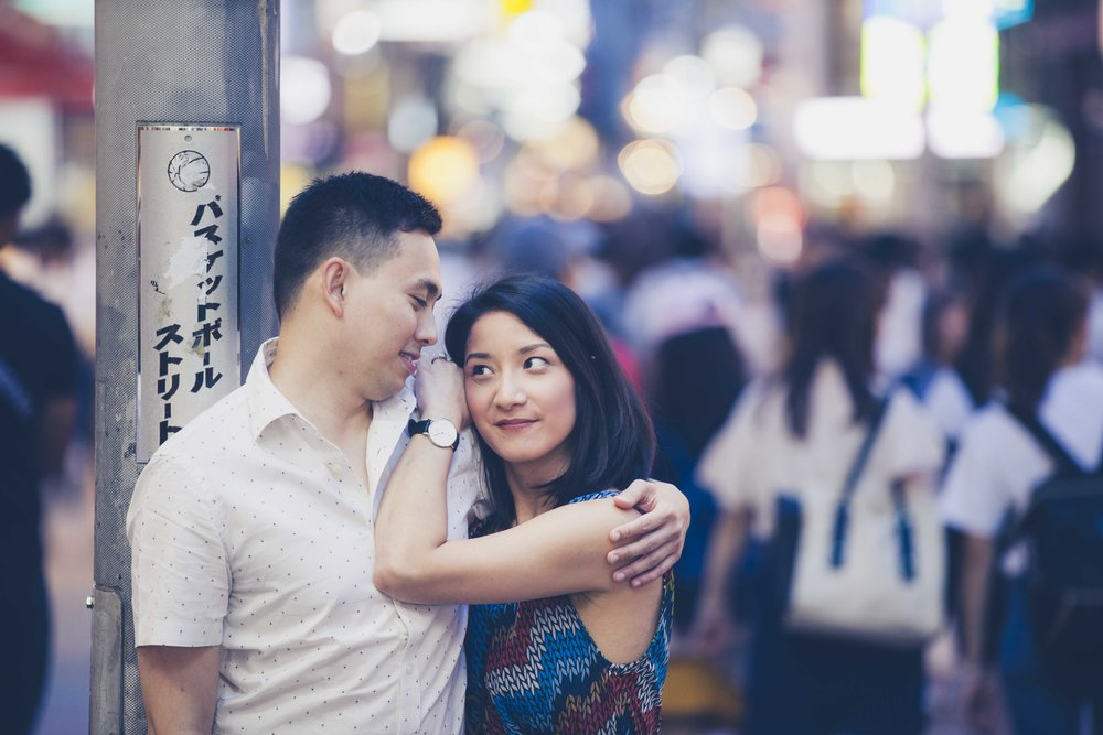Couples photography, Tokyo at night
