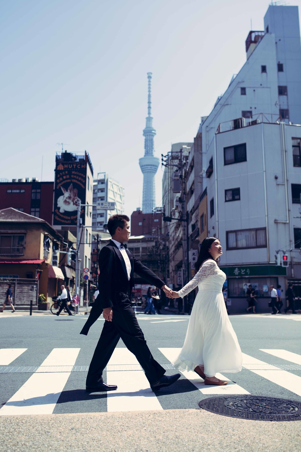Asakusa engagement photo session