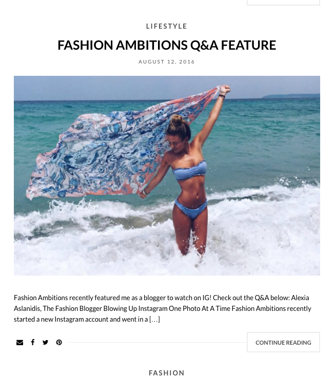 Fashion Editor  Alexia Aslandis's Blog and  Instagram