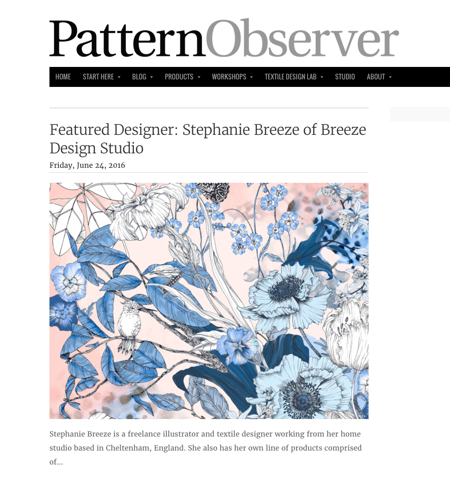 Interview with Pattern Observer  www.patternobserver.com