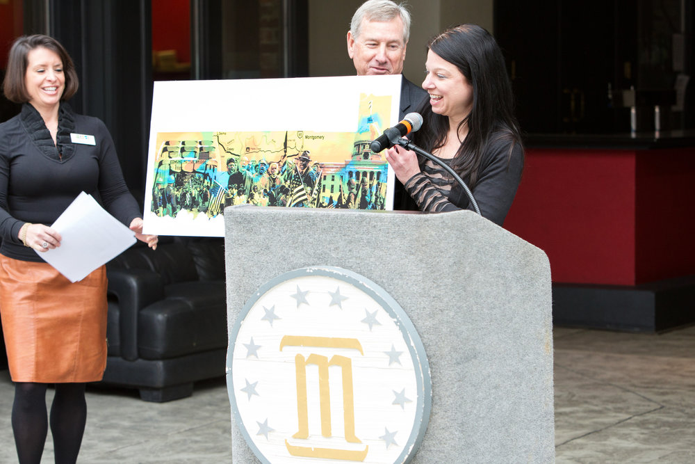 Selma mural press conference with Mayor Strange -- DiAnna Paulk.jpg