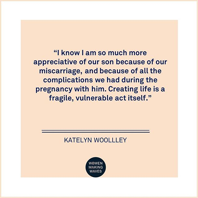 """I know I am so much more appreciative of our son because of our miscarriage, and because of all the complications we had during the pregnancy with him. Creating life is a fragile, vulnerable act itself."" 👉 Read Katelyn's story (link in bio) @thenoblepaperie . . . . . #miscarriage #pregnancy #herstory #vulnerability #courage #brave #thepowerofstories"