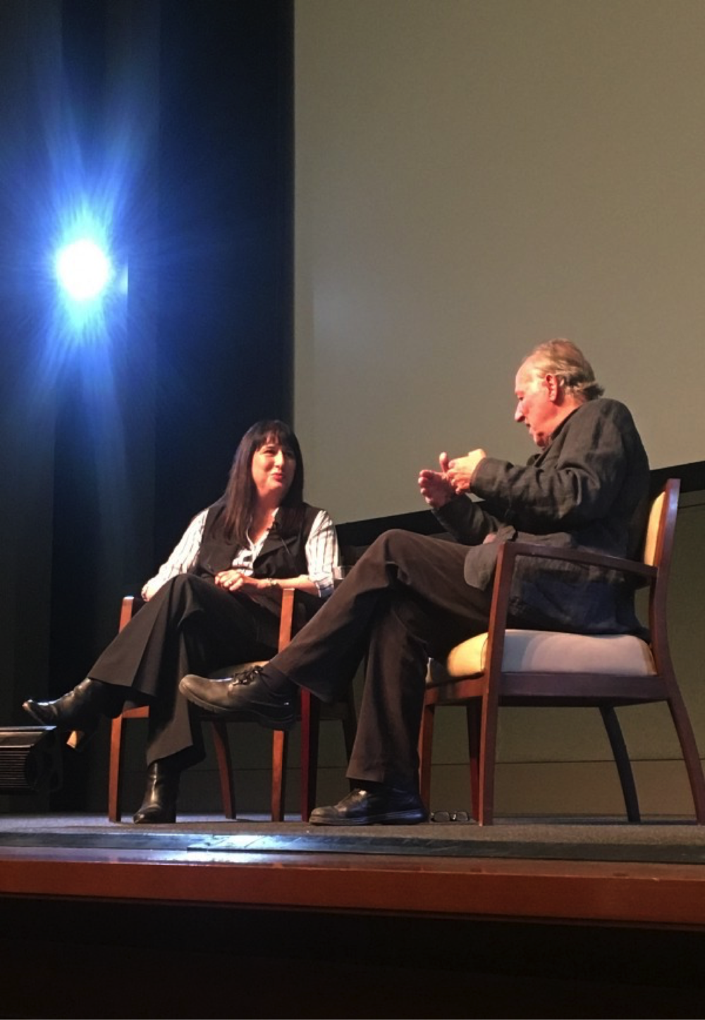 Patrice Petro and Werner Herzog engaged in a lively discussion about his experiences directing Nosferatu the Vampyre.