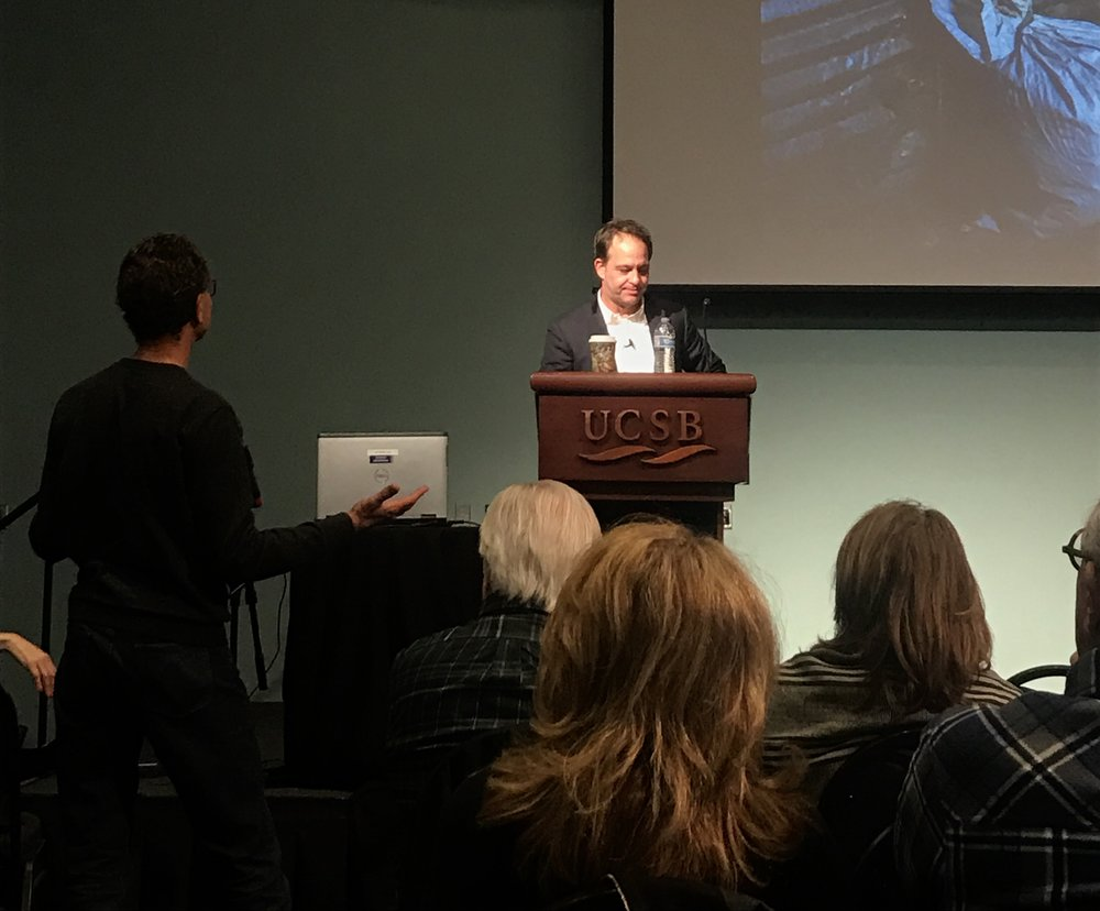 Dexter Filkins answers an audience member's question.