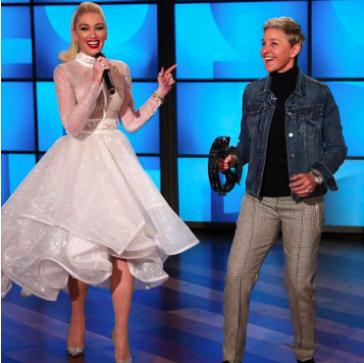 Photo (left to right): Gwen Stefani and Ellen Degeneres wearing Rhude Designs.
