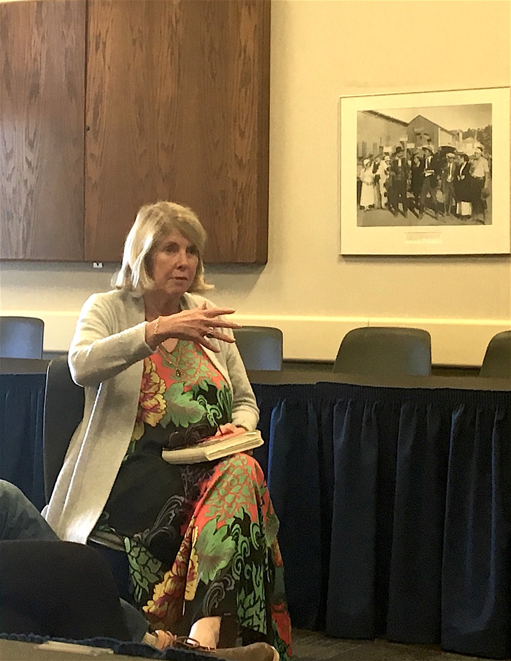 Kay Redfield Jamison discusses her mood disorder and the process of writing through it to a captive audience of young writers at UCSB.