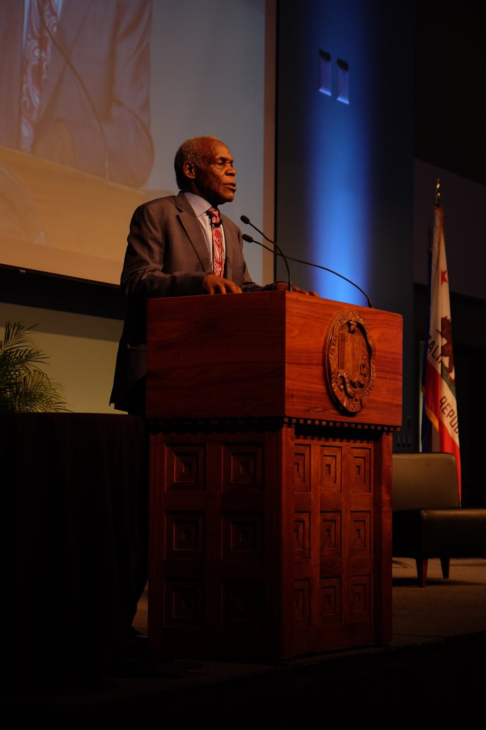"Hollywood actor Danny Glover spoke at ""A Black Vision of Change"" about his work as an activist in helping the global south."