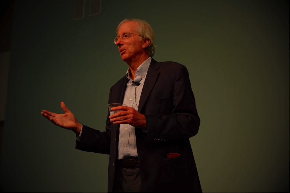 Former Middle East envoy Dennis Ross speaks to students at UC Santa Barbara about the Trump administration's Middle East policies.