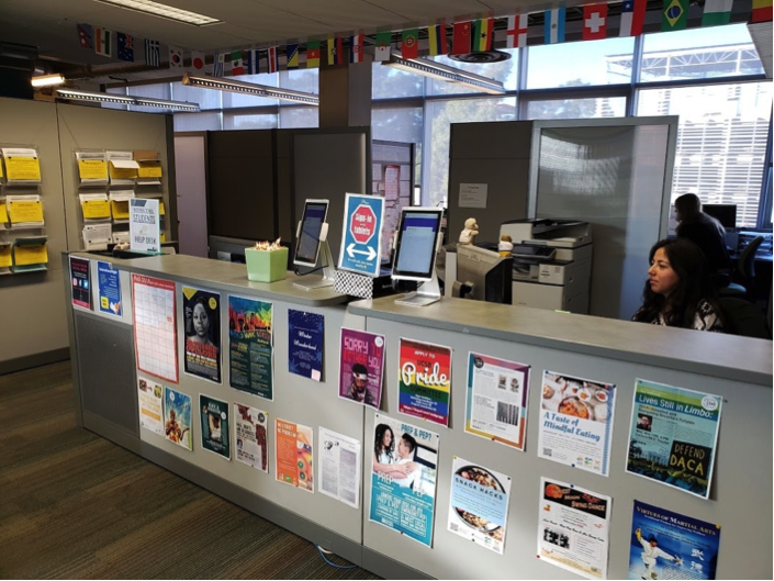 The International Students and Scholars (OISS) office at the Student Resource Building.