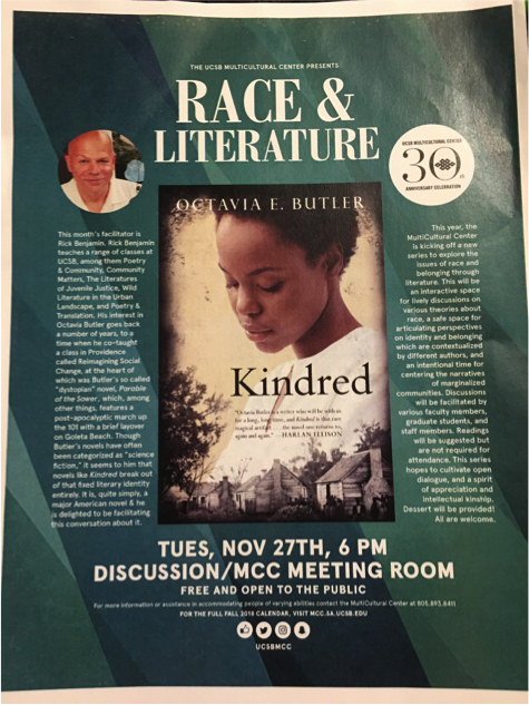 The MultiCultural Center's next Race and Literature Event takes place on November 27 (mcc.ucsb.edu).