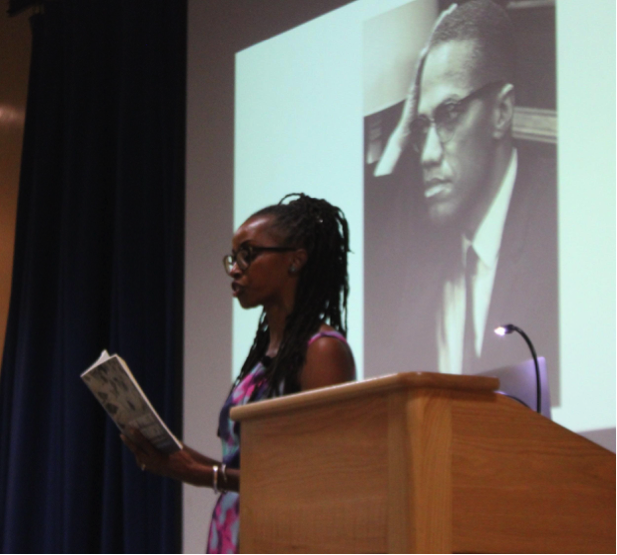 UCSB alumna Ula Taylor reads an excerpt from her book,  The Promise of Patriarchy: Women in the Nation of Islam , to students at Embarcadero Hall on November 1st, 2018.