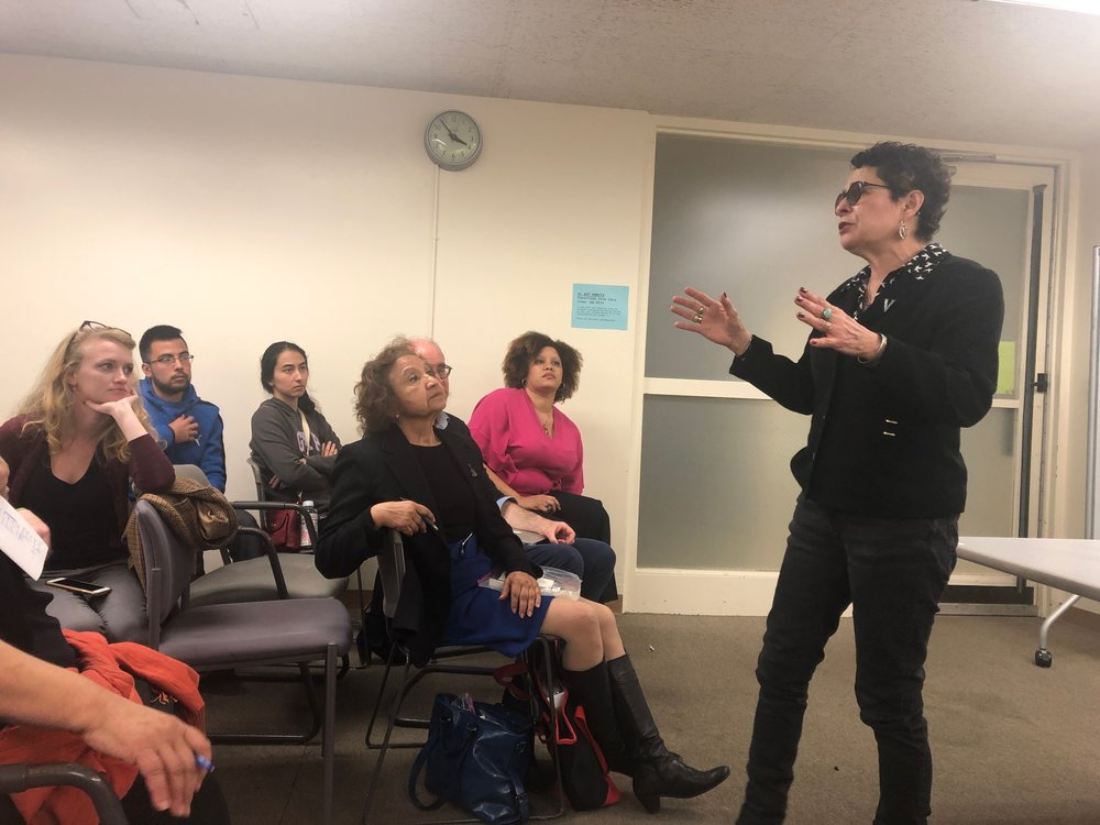 Cornell University creative writing professor Helena María Viramontes shared motivational stories and beliefs about creative writing with UC Santa Barbara English students.