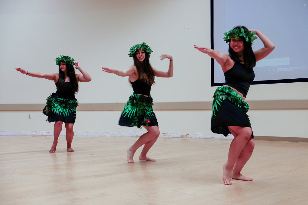 Iaorana Te Otea celebrated the new year with a performance of traditional Polynesian dancing.