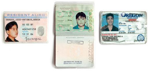 """The fake documents that helped Vargas """"pass"""" as a citizen for years."""