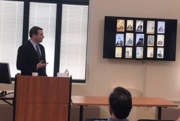 During a talk at UC Santa Barbara, Peter Manseau a curator of American religious history at the Smithsonian Institution, shows a variety of Civil War-era photos purportedly depicting apparitions.