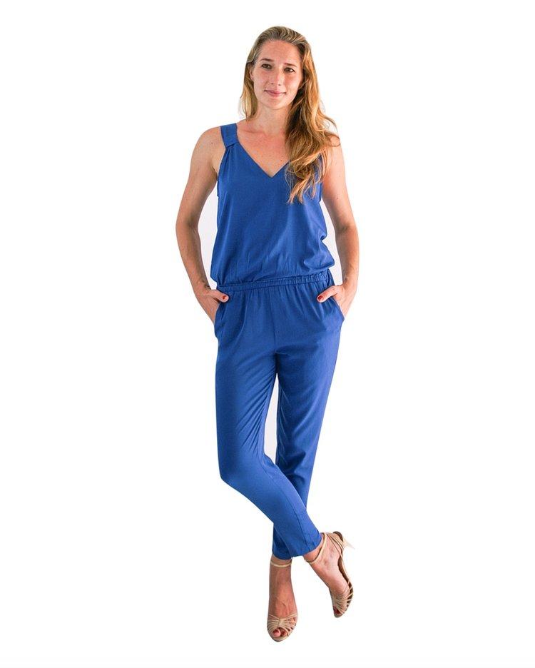 ef618eefbc CAROLINE JUMPSUIT - PETROL BLUE — Capsule Collection by Juliette