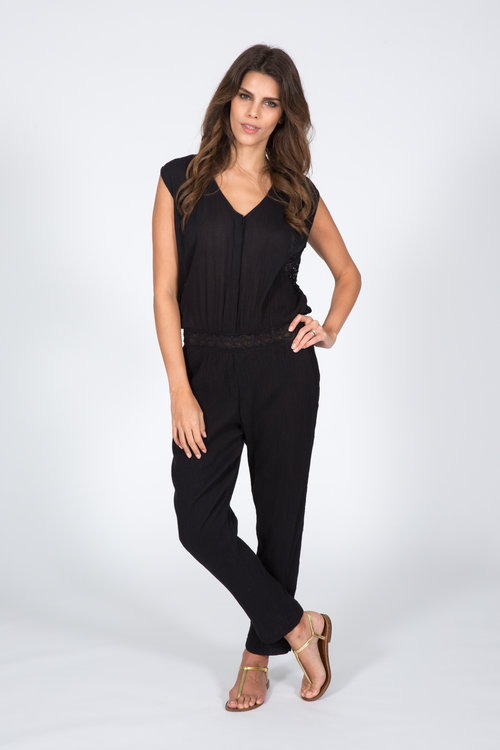 8459b0cb68 ELODIE JUMPSUIT - BLACK WITH LACE — Capsule Collection by Juliette