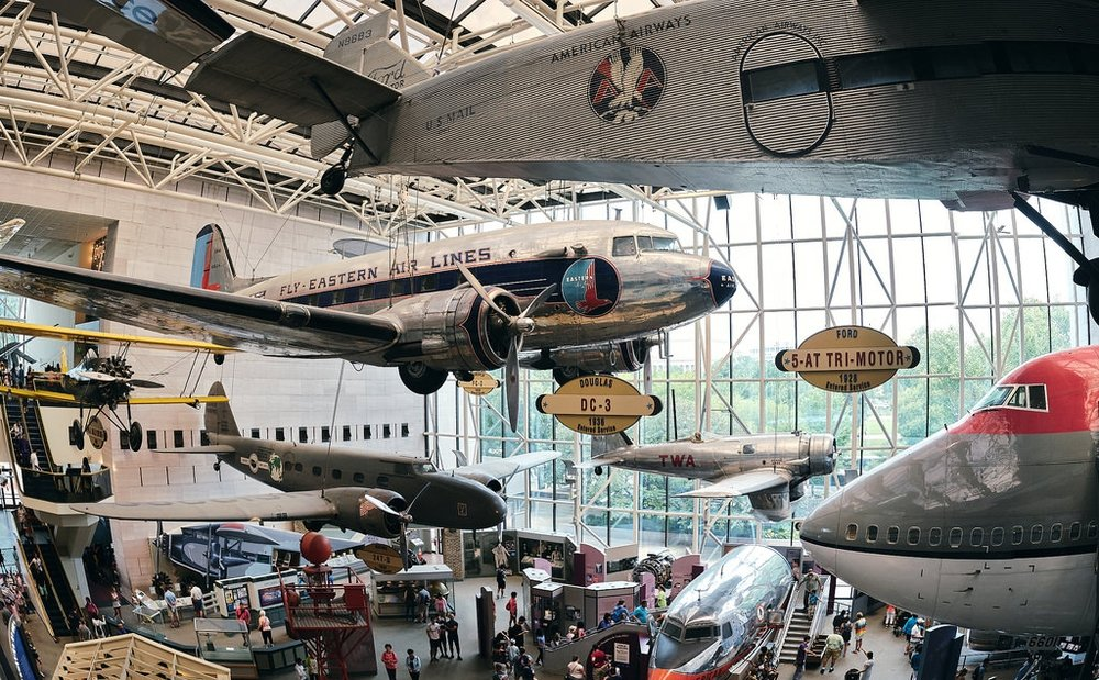 National Air and Space Museum - Attracting millions of people each year, the Smithsonian National Air and Space Museum contains a trove of celebrated aircraft, including Amelia Earhart's Lockheed Vega 5B, Charles Lindbergh's Spirit of St. Louis and Wilbur and Orville Wright's 1903 Wright Flyer, among others. Exhibits include a flight simulator, an IMAX theater and the Einstein Planetarium. And parents beware: The three-level gift shop is huge, so get ready for pleas from your kids. Visitors recommend arriving in the morning to avoid the heaviest crowds, which are sure to pour in, especially once summertime rolls around. Some say parts of the museum are also starting to look worn but insist this is a must-visit site for families and aviation enthusiasts.