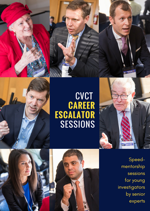 """CAREER ESCALATOR"" IS A SESSION OF ONE-ON-ONE SPEED-MENTORSHIP TARGETED AT YOUNG FELLOWS WHO WOULD LIKE TO BENEFIT FROM THE PRESENCE OF EXPERTS AND SENIOR INVESTIGATORS WITH LONG CAREERS AND A WEALTH OF KNOWLEDGE."