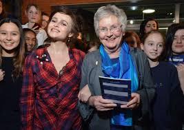 Averil Burgess with her former pupil Helena Bonham Carter