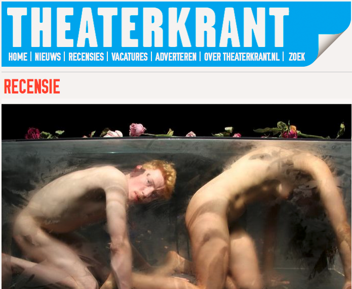 """****""""...it is a separate universe with its own clock and rhythm."""" – Wendy Lubberding    In Case  Theater Festival Boulevard, Den Bosch, August 2018   Theaterkrant ( Read Full Article  - Dutch Only) Review 02/08/2018"""