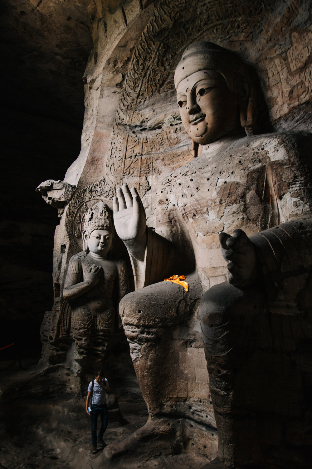 Cave 3 - One of the larger statues at Yungang