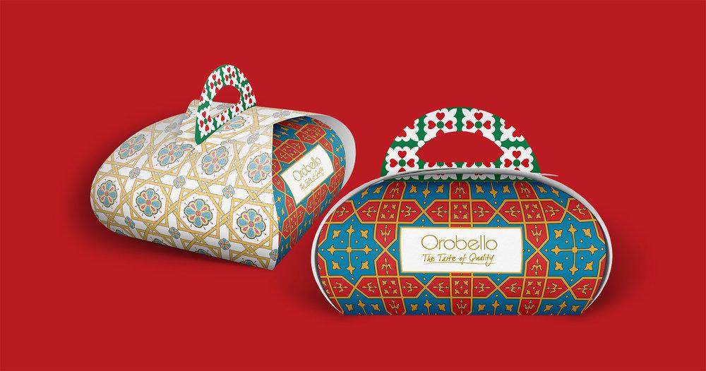 Cake box design for Orobello
