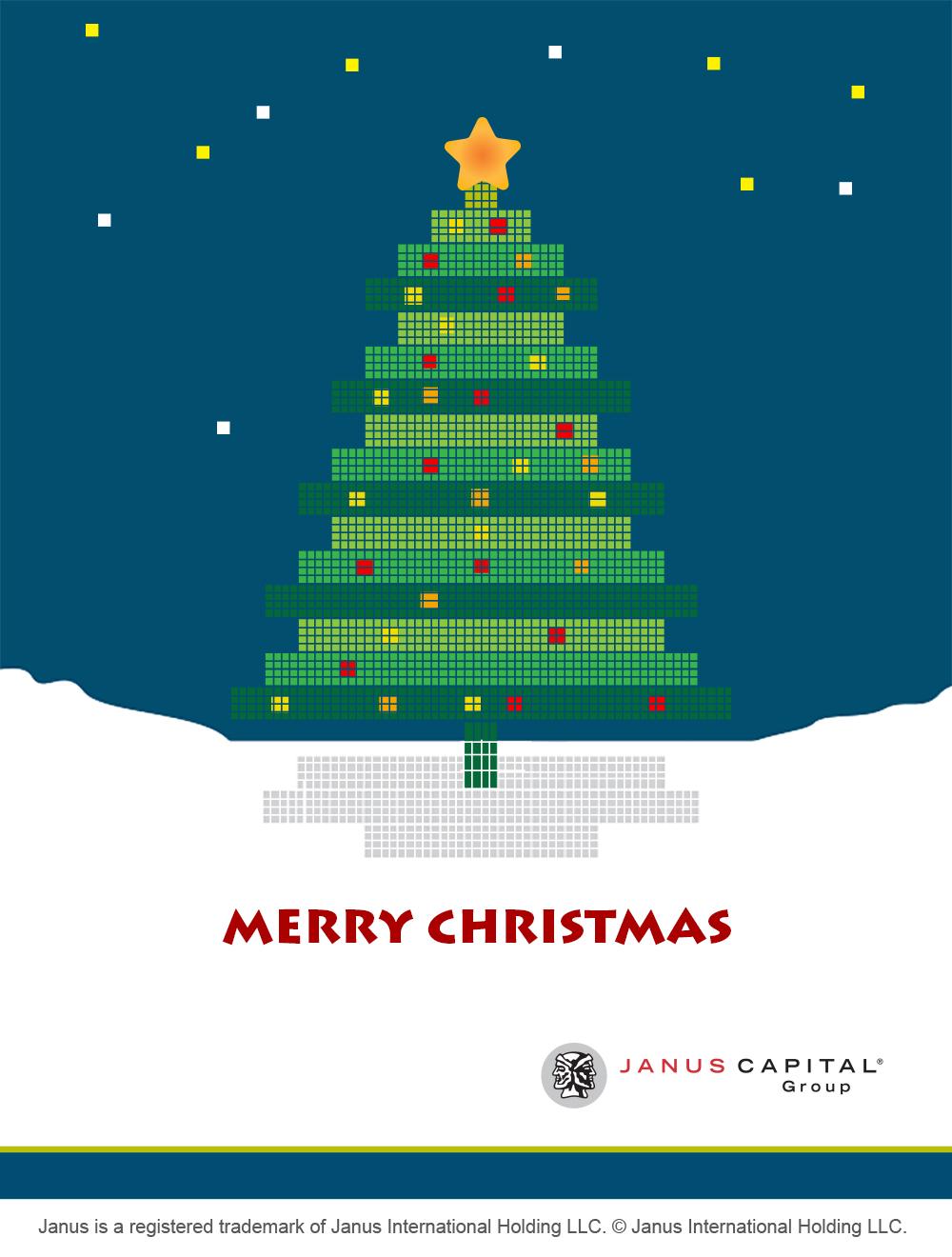 illustration - Christmas card design for Janus Capital