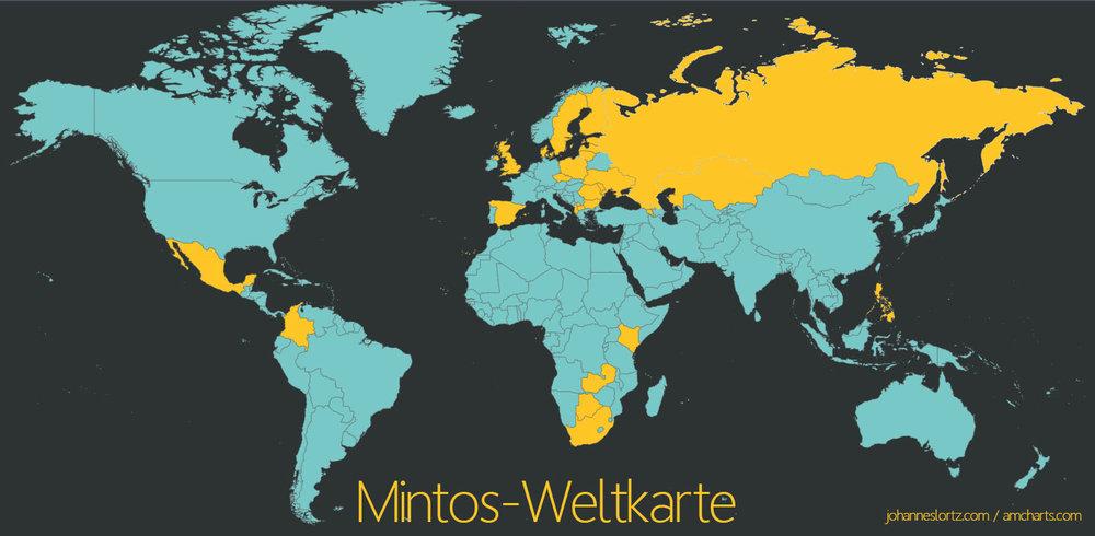 Länder, in denen Mintos 2018 mit Kreditgebern zusammengearbeitet hat