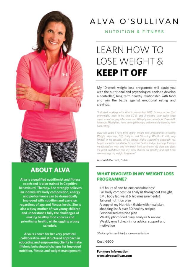 My New Weight Loss Programme Alva O Sullivan Nutrition Fitness