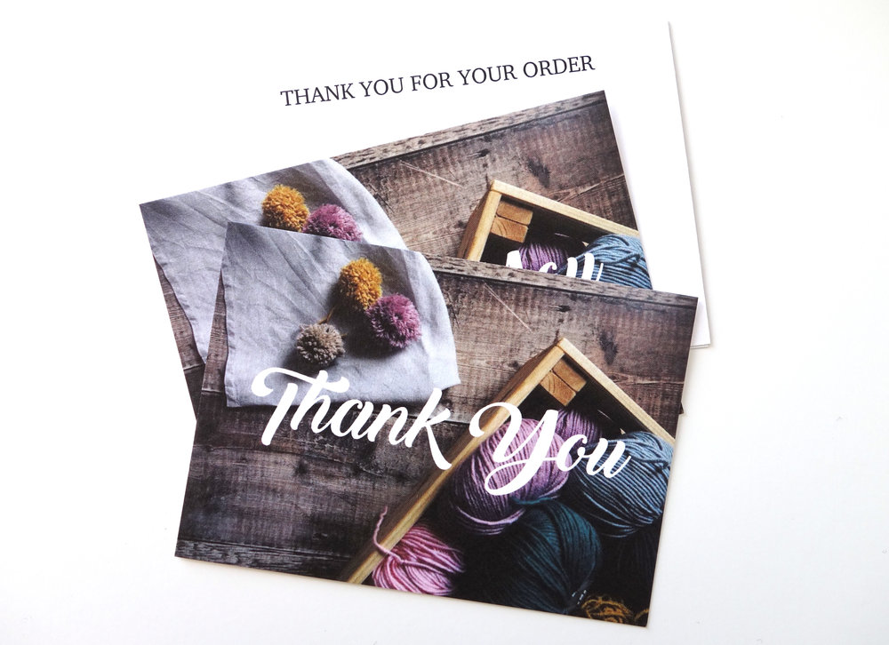 BRASS BUTTONS & BABY | A7 THANK YOU CARD