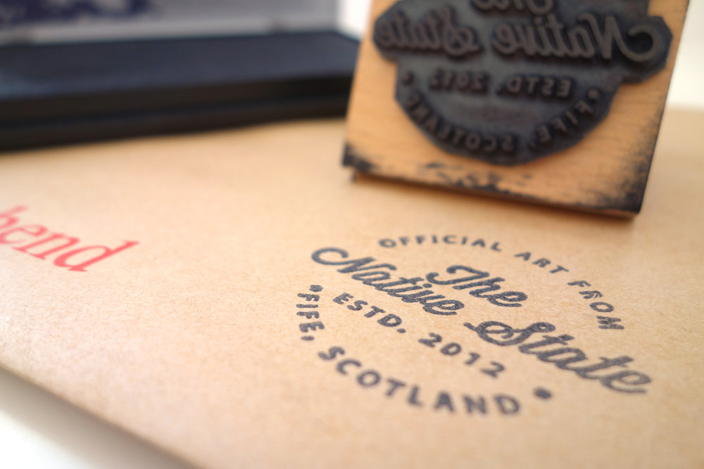 THE NATIVE STATE | RUBBER STAMP