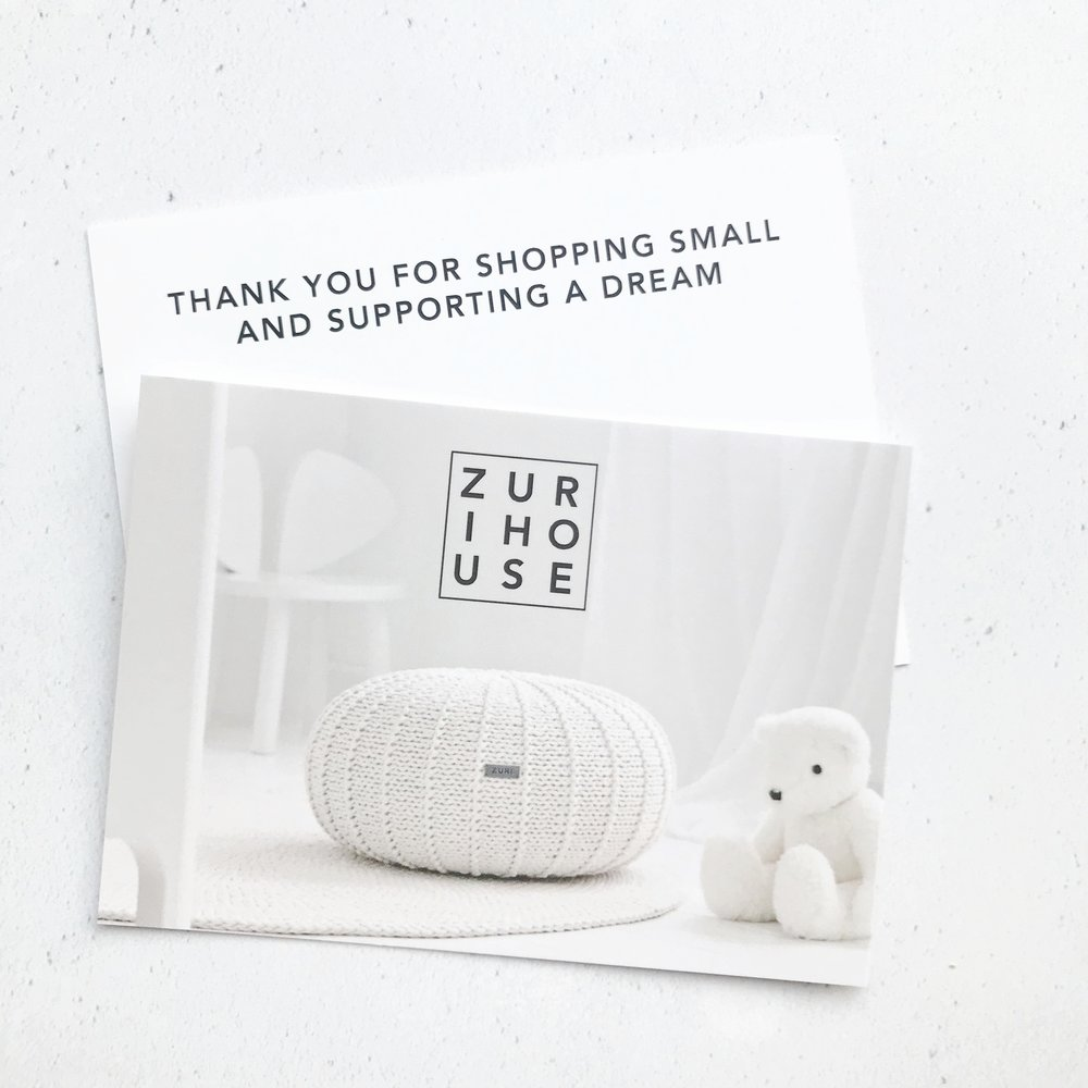 ZURI HOUSE | THANK YOU CARDS