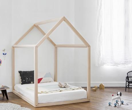 BONNESOEURS Beech Wood House Bed Natural