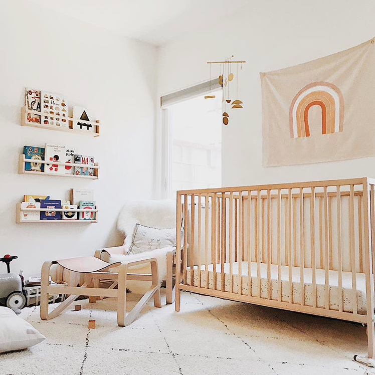 Keep the cot entirely free of bumpers, pillows, duvets and toys for the first year. Image Credit:  Almost Makes Perfect