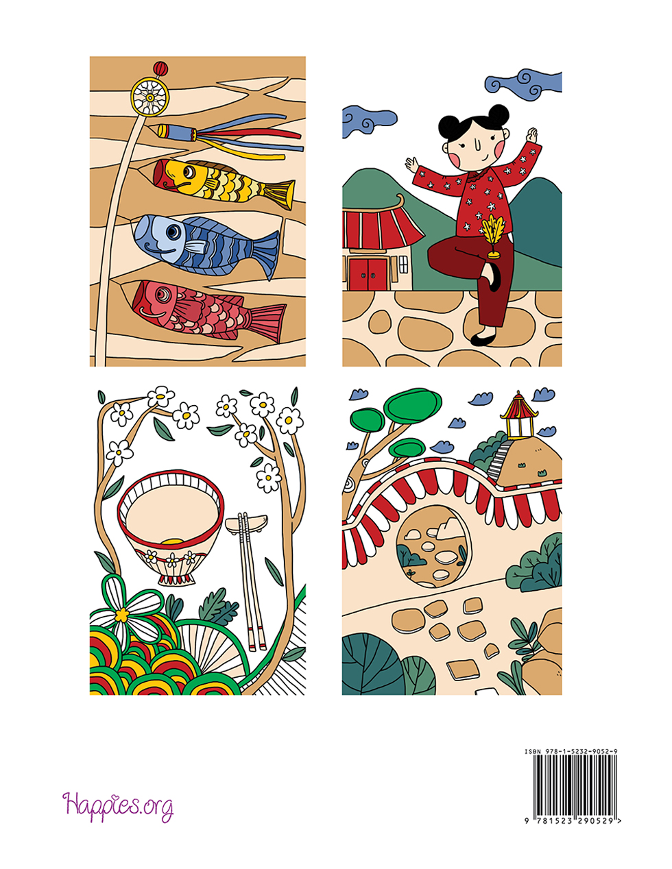 Happies - Eastern Magic Coloring Book: Amazing Oriental Designs