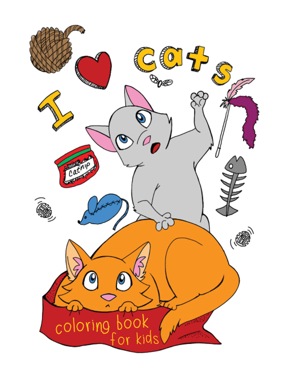 Happies - I Love Cats Coloring Book for Kids