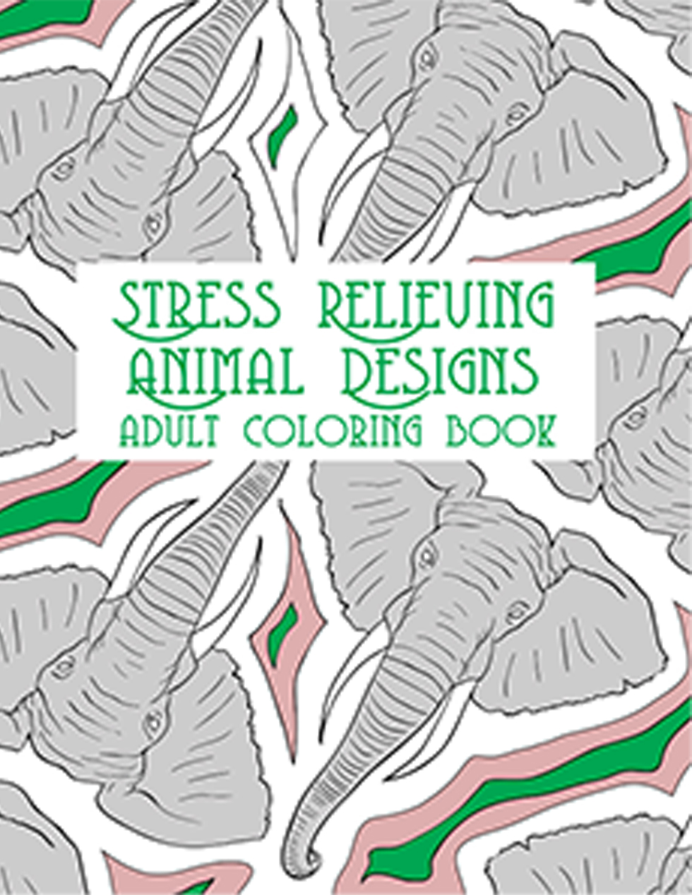 Happies - Stress Relieving Animal Designs Adult Coloring Book