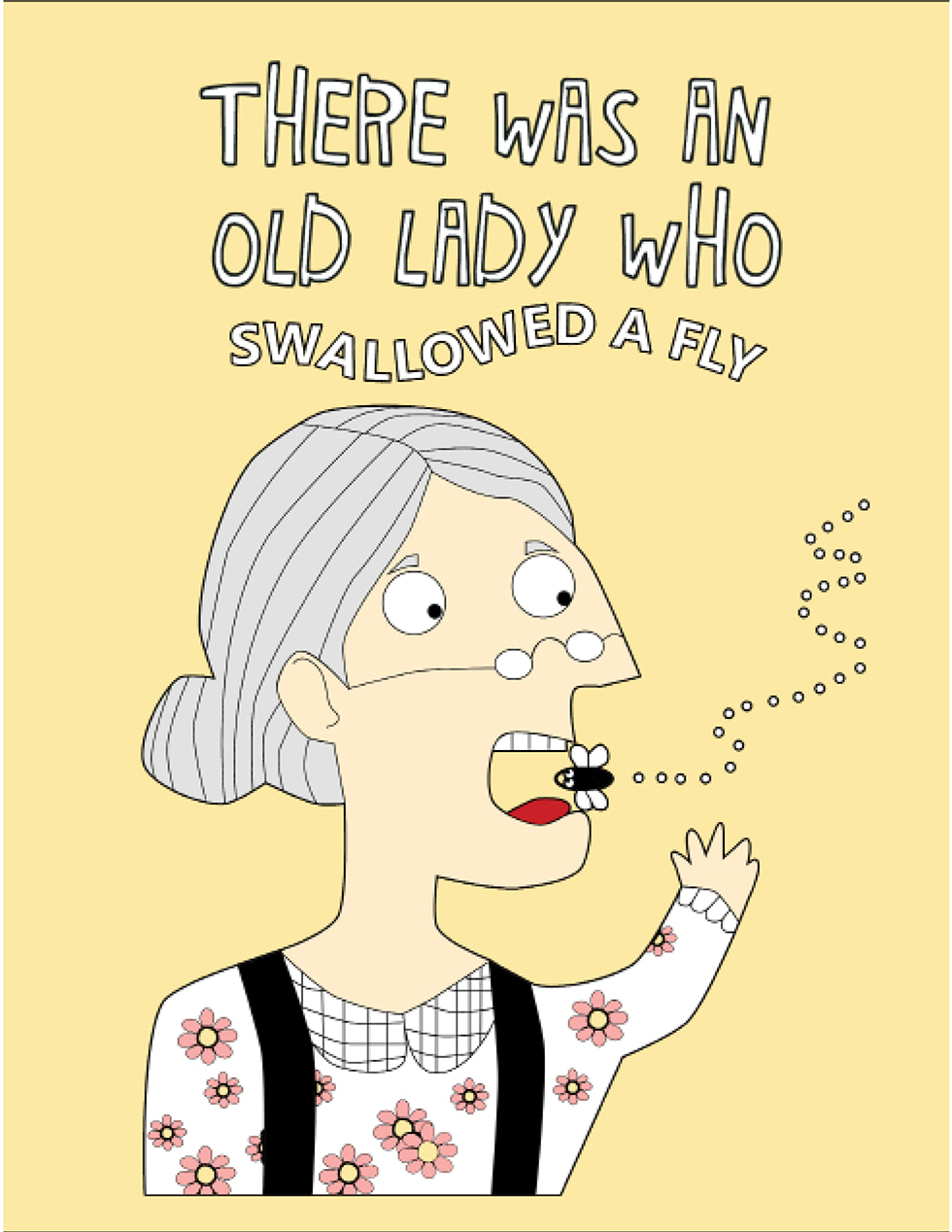 happies there was an old lady who swallowed a fly coloring book