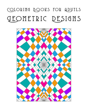 Coloring Book For Adults Geometric Designs