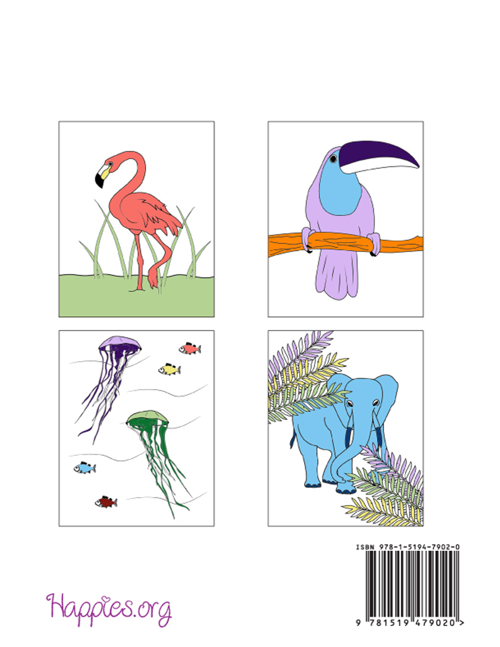 Coloring Books for Grownups: Animals