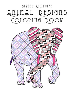Stress Relieving Animal Designs Coloring Book