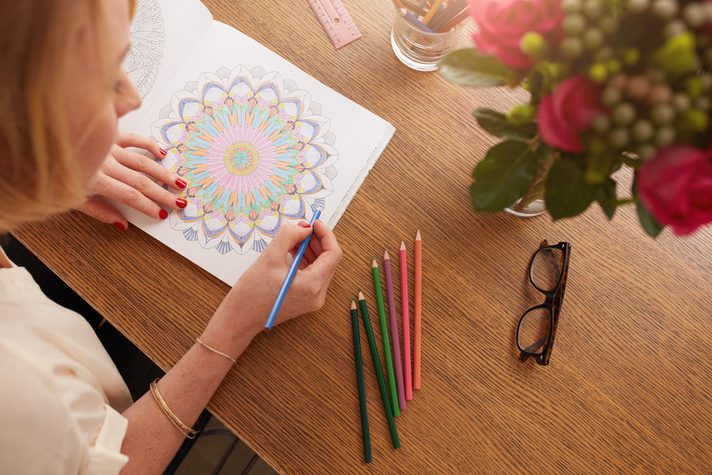 Coloring Helps Adults Relax on Vacation -