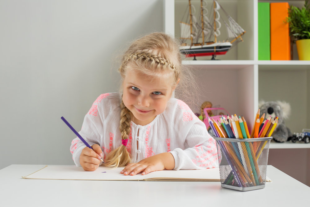 COLORING BOOKS KEEP KIDS ENTERTAINED FOR HOURS. -
