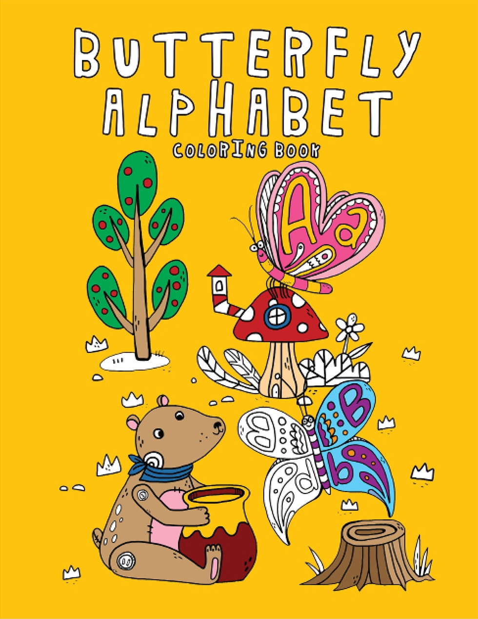 Happies - Butterfly Alphabet Coloring Book