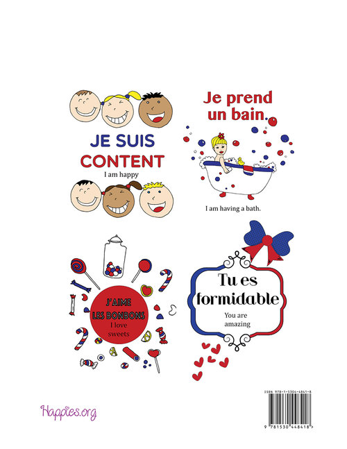 Happies - Learn French Coloring Book