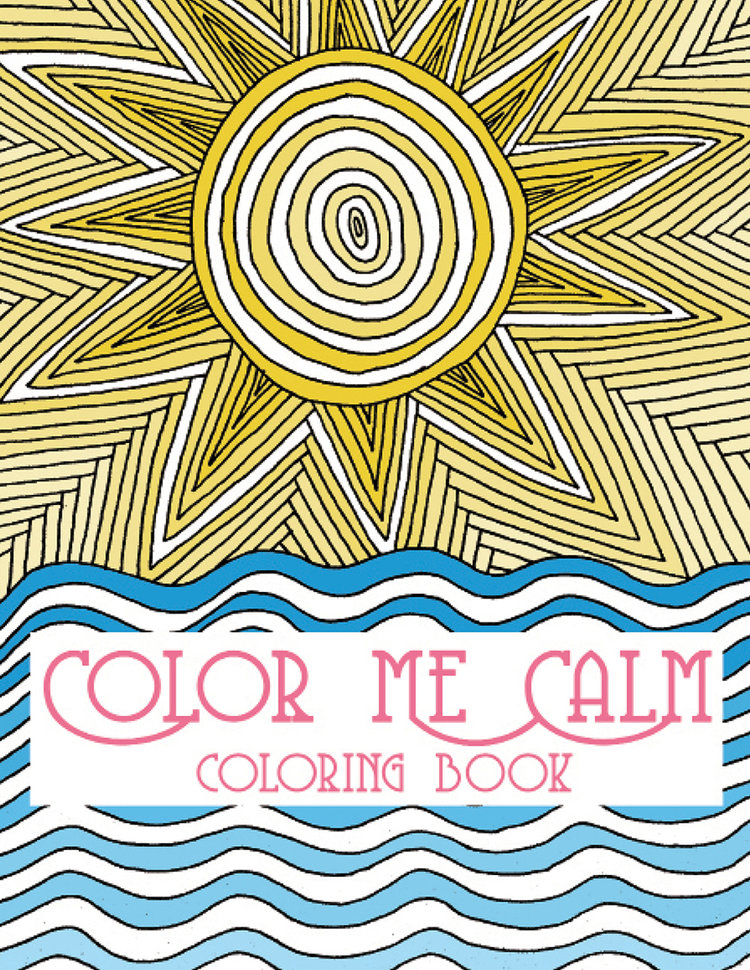 Adult coloring Book Color me calm