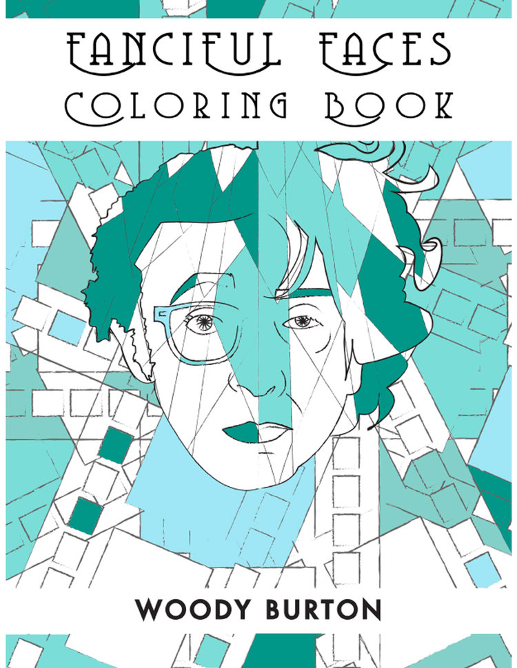 Adult Coloring Book Fanciful Faces